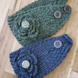 2 pack Knitted Shimmer HeadWraps